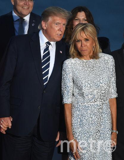 Дональд Трамп и Брижит Макрон. Фото Getty