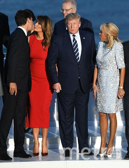 Джастин Трюдо с Меланией, Дональд Трамп и Брижит Макрон. Фото Getty