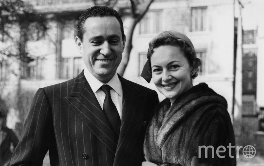 Оливия Де Хэвилленд и ее второй супруг француз Пьер Галанте. Фото Getty