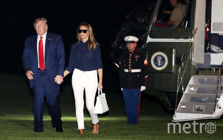 Дональд и Мелания Трамп уже вернулись домой в Штаты. Фото Getty