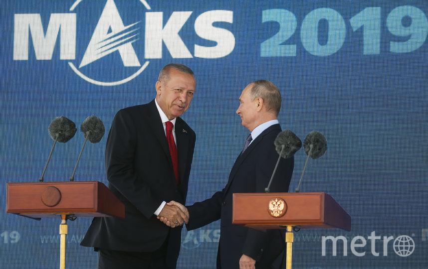 Владимир Путин и Президент Турции Реджеп Тайип Эрдоган. Фото AFP