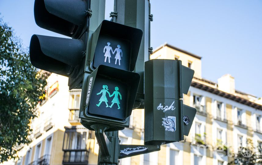 Нетрадиционные светофоры установили в Мадриде в 2017 году. Фото pixabay.com