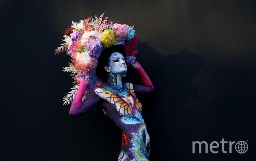 Роспись по телу модели для конкурса может занимать несколько часов. Фото Getty