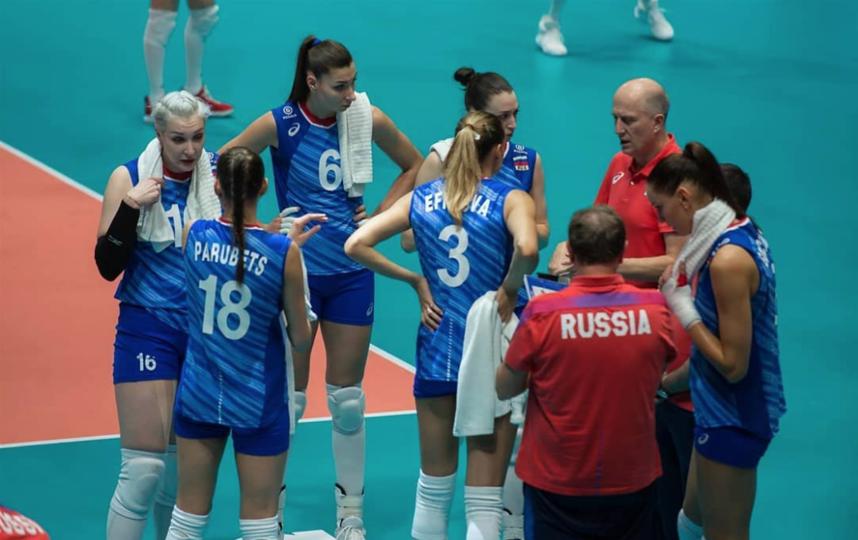 Россия обыграла Испанию на чемпионате Европы. Фото Скриншот @rusvolleyaddict