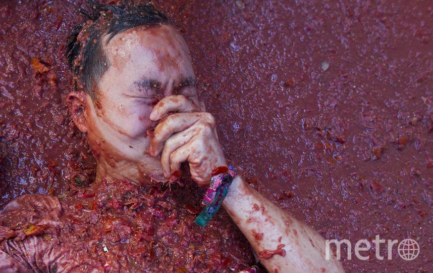 В испанском Буньоле начался ежегодный фестиваль La Tomatina. Фото AFP