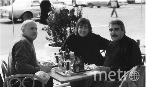 "США, Азадовский  с супругой и Довлатов. Фото из личного архива Константина Азадовского, ""Metro"""
