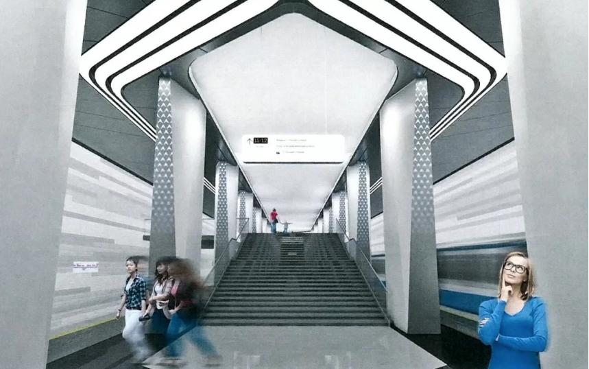 """проект станции """"Авиамоторная"""". Фото mos.ru"""