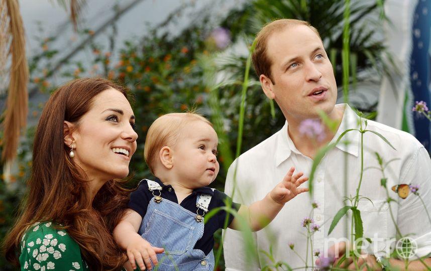 Кейт Миддлтон с мужем и принцем Джорджем. Фото архив, Getty