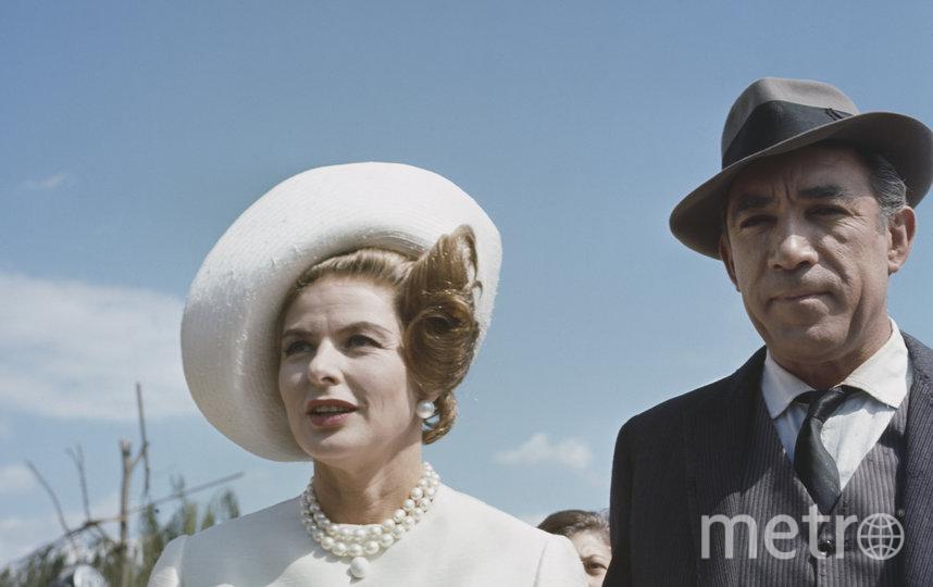 Ингрид Бергман и Энтони Куин в 1963 году. Фото Getty