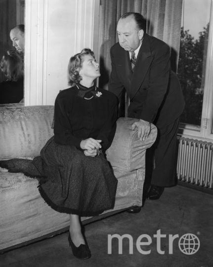 С Альфредом Хичкоком в 1948 году. Фото Getty