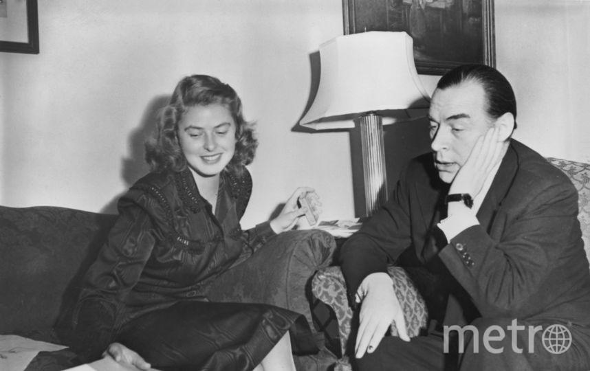 С писателем Эрихом Марией Ремарком в 1947 году. Фото Getty