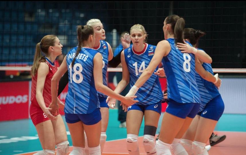 Российские волейболистки разгромили сборную Словакии. Фото Скриншот @volley_ru
