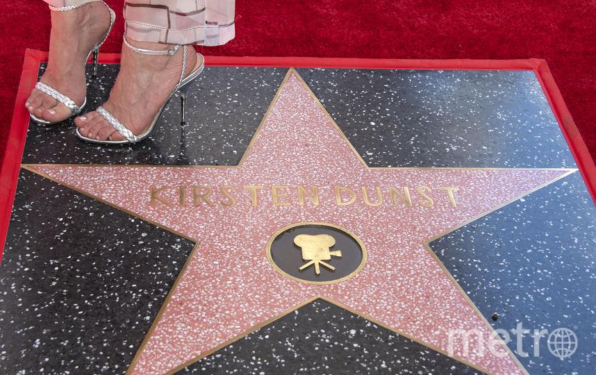 Звезда Кирстен Данст на Аллее славы в Голливуде. Фото AFP