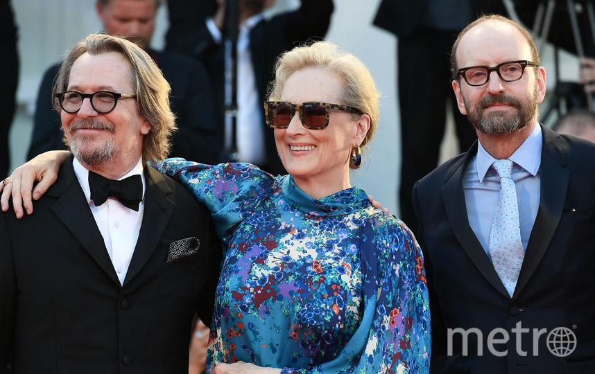 Гари Олдман, Мерил Стрип и американский кинорежиссёр Стивен Содерберг. Фото AFP