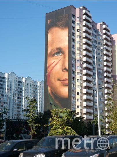 Итальянский художник @jorit создал самое большое в мире изображение Гагарина (57 м в высоту и 14 м в длину). Фото предоставила Елена Валякина