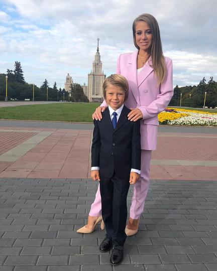 Юлия Барановская с сыном. Фото Скриншот Instagram @ baranovskaya_tv