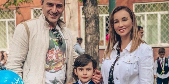 Анфиса Чехова с бывшим мужем, актёром Гурамом Баблишвили, и сыном Соломоном.