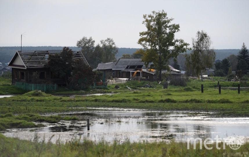 2 сентября 2019. Дома в Тулуне после июльских паводков. Фото РИА Новости