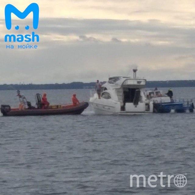 "Яхта получила пробоину. Фото https://t.me/mashmoyka, ""Metro"""