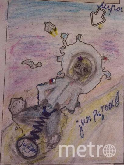"""""""Планета Тель очень маленькая, но оснащена по последнему слову техники. И космический турист Лира спешит осмотреть её на популярном здесь джампере. Фото Виктория, """"Metro"""""""