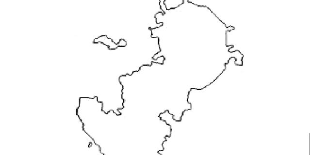 Контурная карта Москвы.