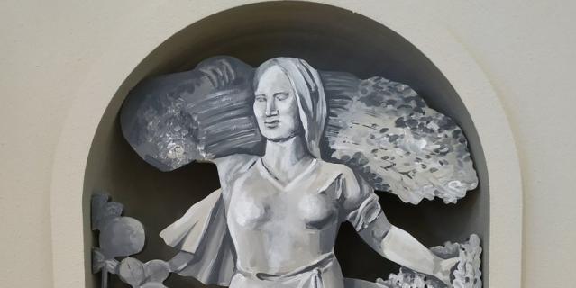 Вместо скульптуры на павильоне Башкирской АССР будет её рисунок.