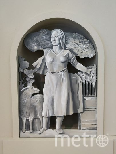 """Вместо скульптуры на павильоне Башкирской АССР будет её рисунок. Фото Ольга Кабанова, """"Metro"""""""