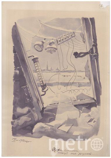 "«Арфа сломана, аккорд ещё рыдает...», 1942 год. Фото ""Metro"""