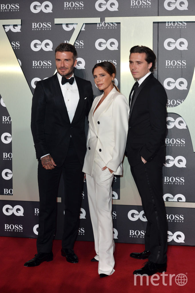 "GQ Men of the Year Awards. Семейство Бекхэмов - Дэвид, Виктория и Бруклин. Фото ""Metro"""