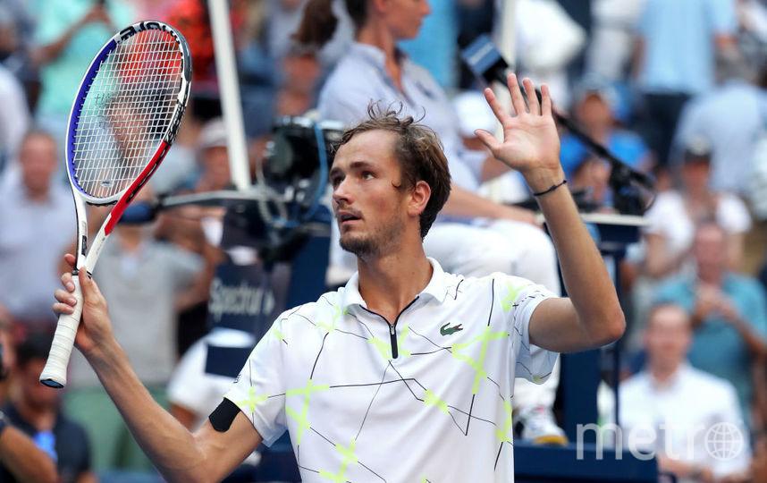 Даниил Медведев в стал первым россиянином за десять лет, дошедшим до полуфинала US Open. Фото Getty