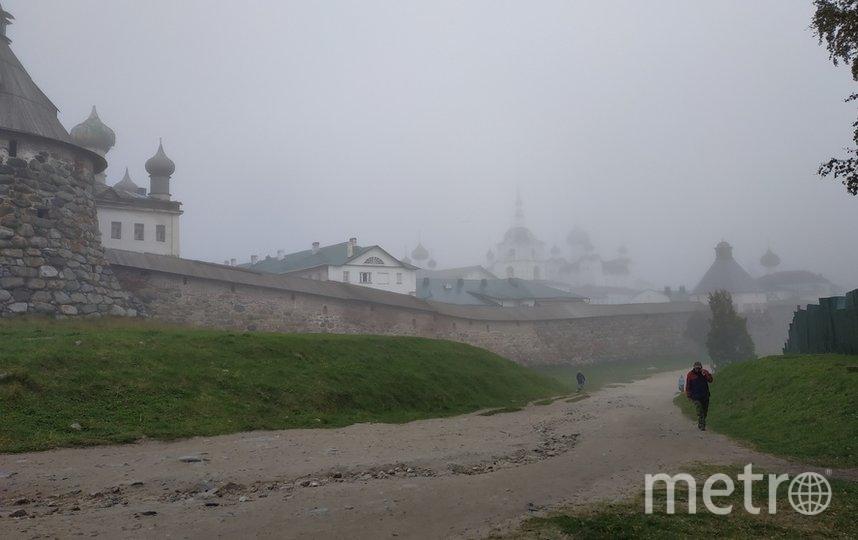 """Соловецкий монастырь в тумане. Фото Наталья Сидоровская, """"Metro"""""""