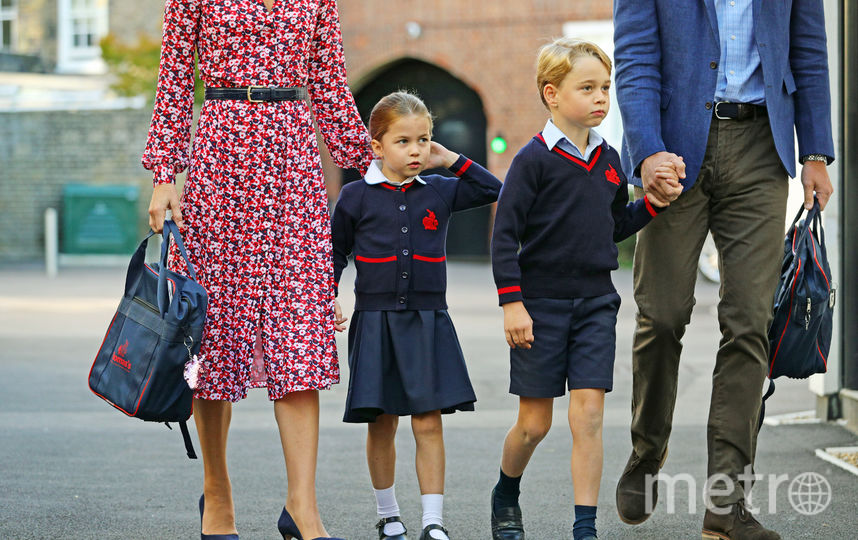Принц Уильям и Кейт Миддлтон отвели детей в школу. Фото Getty