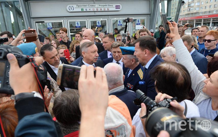 """Беглов осмотрел новые станции. Фото Святослав Акимов, """"Metro"""""""