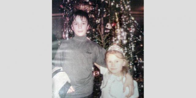 Юля с братом Женей.