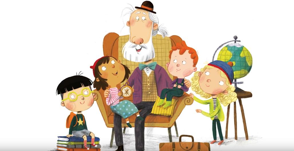 Грэндюд и его внуки. Фото скриншот youtube Random House Kids