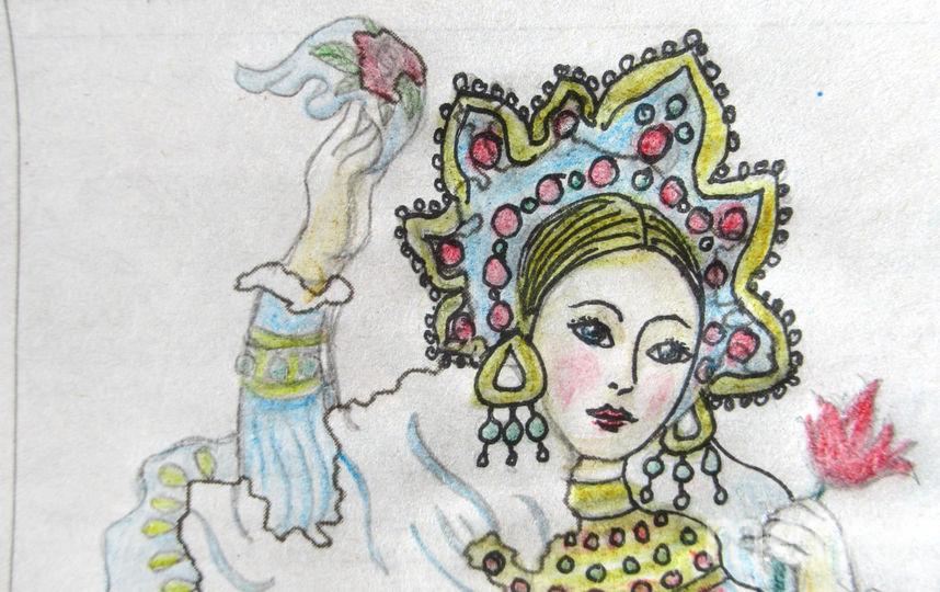 """""""Русская красавица приветственно машет платком"""". Фото Ольга, """"Metro"""""""