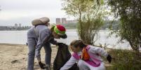 С берега Оби возле Бугринского моста убрали 656 мешков мусора