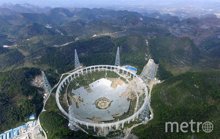 Сферический радиотелескоп в Китае был построен в 2015 году. Фото Getty