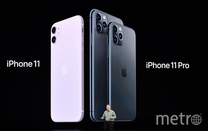 Были представлены три модели телефонов: iPhone 11, iPhone 11 Pro и iPhone 11 Pro Max. Фото AFP