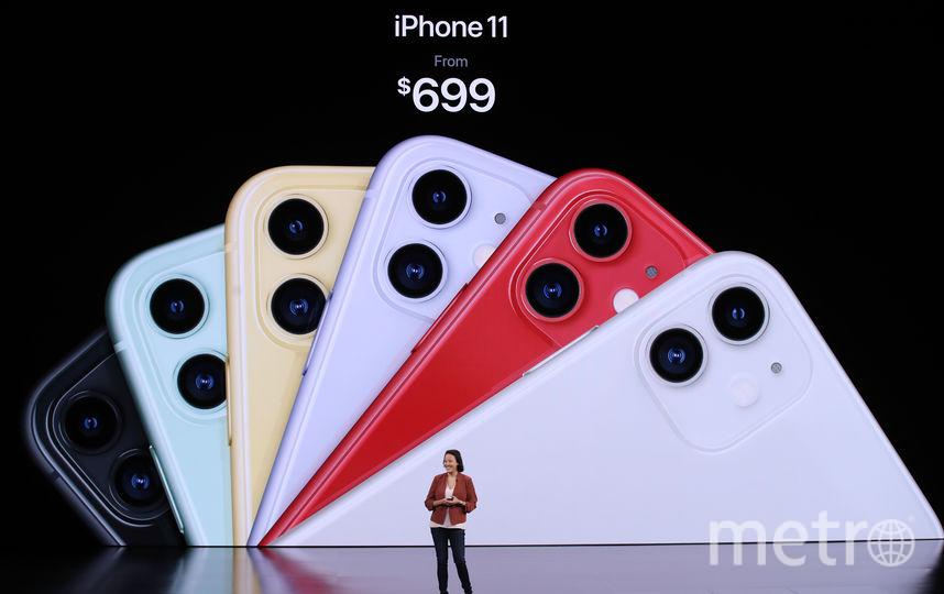 Новые модели iPhone в разных цветах. Фото AFP