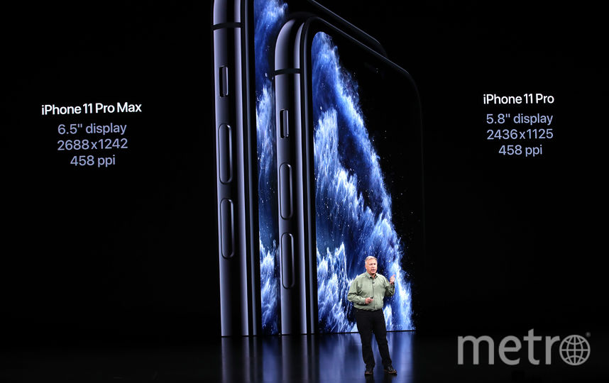 iPhone 11 Pro и iPhone 11 Pro Max также были представлены на презентации в театре Стива Джобса. Фото AFP