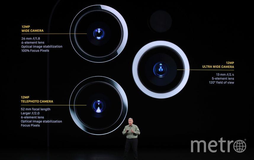 Phone 11 Pro с тремя камерами. Фото AFP