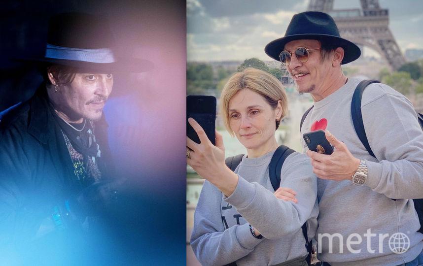 Джонни Депп / Иван Охлобыстин с супругой.