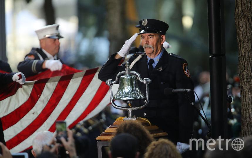 У мемориала Башням-близнецам 11 сентября 2019 года. Фото Getty