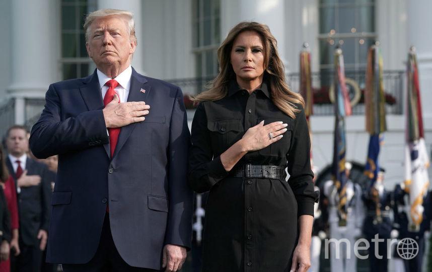 Мелания Трамп и Дональд Трамп на лужайке у Белого дома. Минута молчания. 11 сентября 2019 года. Фото Getty