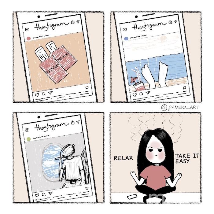 Москвичка Екатерина Панченкова рисует картинки по мотивам своей жизни, которые  находят отклик у многих женщин. Фото vk.com/paneka_art, vk.com
