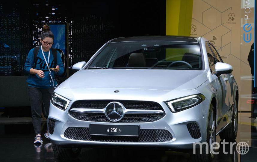 2019 IAA Frankfurt Auto Show. Mercedes-Benz A250e. Фото Getty