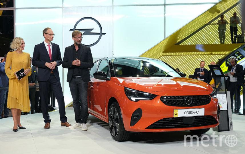 2019 IAA Frankfurt Auto Show. Новый Opel Corsa - электрокар. Фото Getty