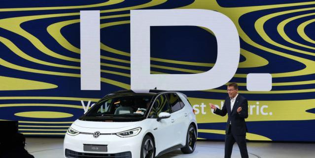 2019 IAA Frankfurt Auto Show. VW ID.3.