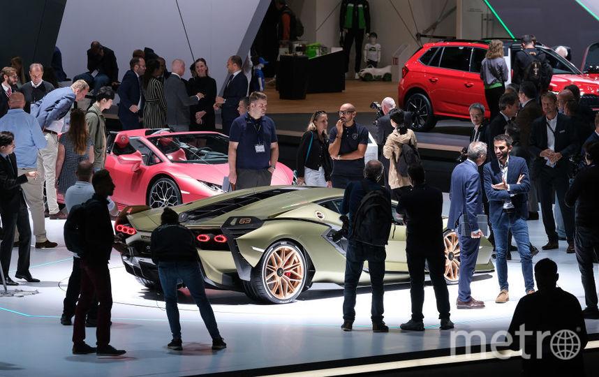 2019 IAA Frankfurt Auto Show. LAMBORGHINI SIAN. Фото Getty